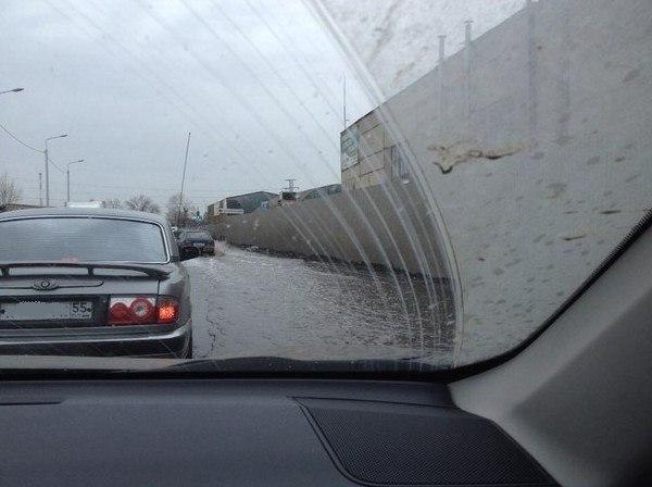 #Омск #авто #дороги #потоп