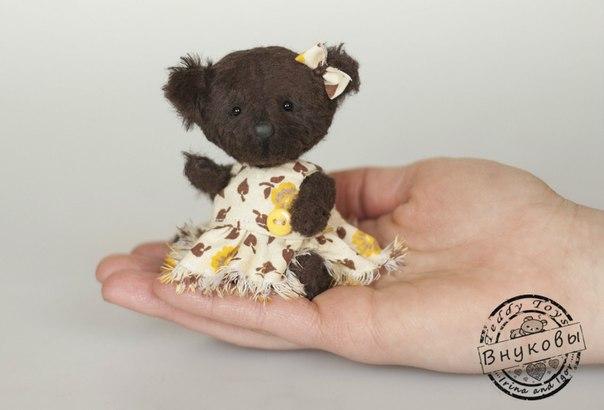 Мишка Шоколадка,рост 10см. (4 фото) - картинка