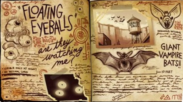 страницы из дневника гравити фолз картинки