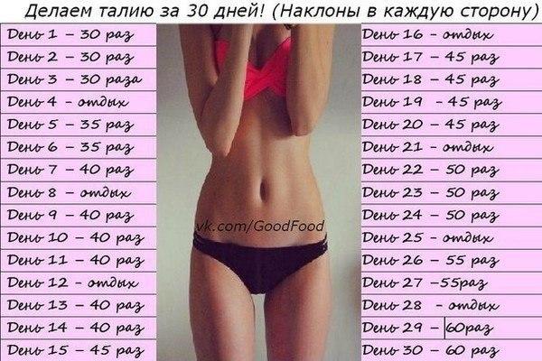 программы упражнений для похудения дома