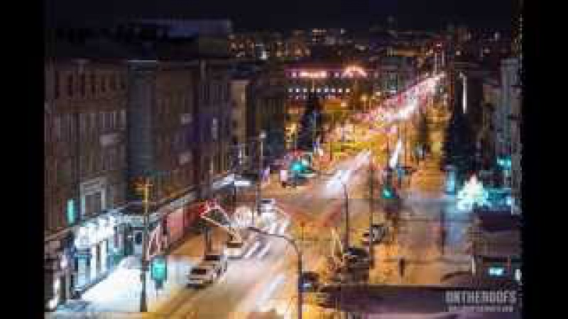 Krasnoyarsk. Siberia. Timelapse Hyperlapse