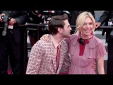 Jury members Sienna Miller and Xavier Dolan attend the Red Carpet of Macbeth in Cannes