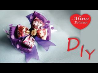 Эвер Афтер Хай - Бант из Лент Мастер Класс / DIY Ever After High - Bow of ribbon