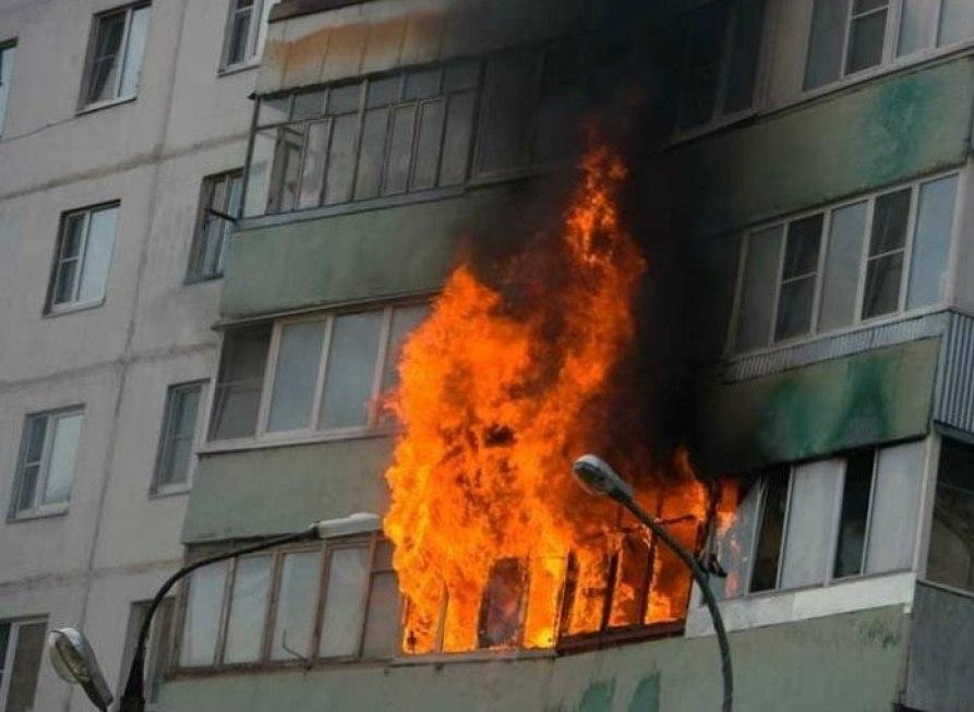 В Таганроге произошел пожар в девятиэтажке