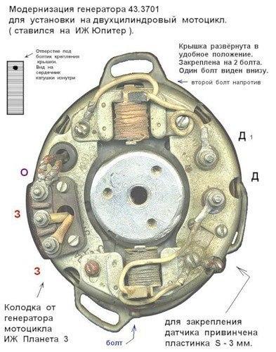 генератор от минска на мотоцикл иж юпитер модернизация 43.3701