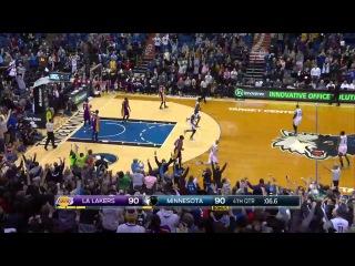 HD LA Lakers vs Minnesota Timberwolves | Full Highlights | March 25, 2015 | NBA Season 2014/15
