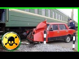 Аварии и катастрофы. Жуткие моменты с поездами! счастливчики