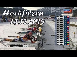 Биатлон 2014-2015. Эстафета Женщины 13.12.2014. Хохфильцен (Австрия)
