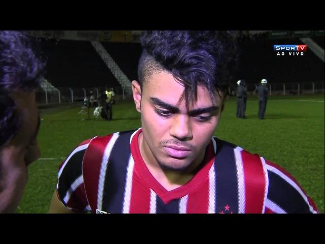 João Paulo, do São Paulo: Eu não sei o que aconteceu, se aconteceu eu não tô sabendo