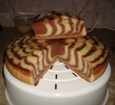 Торт зебра пошаговый рецепт в мультиварке