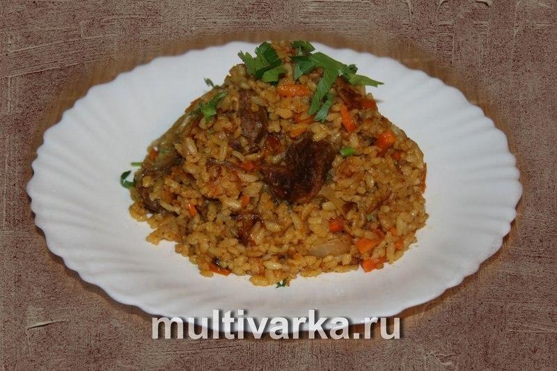 Плов мультиварке говядина рецепт фото