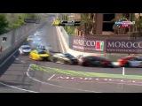 WTCC 2015. Morocco. Kozlovsky and Huff crash
