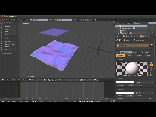 Blender. Анимация. Урок 03c - Модификаторы Blender - 3часть
