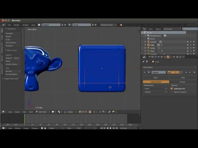 Blender. Анимация. Урок 03a - Модификаторы Blender - 1часть