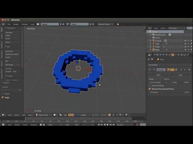 Blender. Анимация. Урок 03b - Модификаторы Blender - 2часть