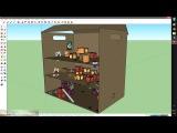 Как выглядит карта в SketchUp. И перенес её в Unity3D
