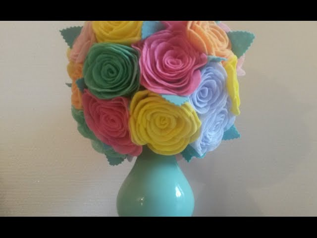 DIY Яркий весенний Букет с розами из кухонных салфеток фрекен бок Vase with roses of kitchen wipes