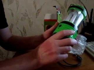 Кемпинговый фонарь с аккумулятором и солнечной панелью