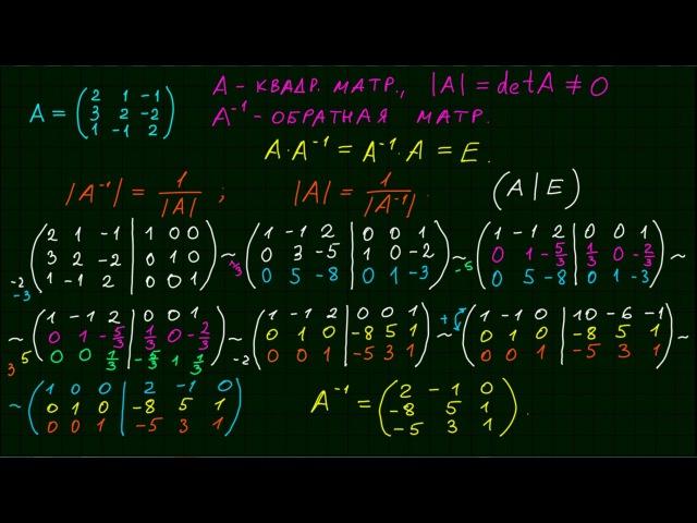Обратная матрица 1