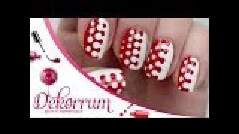 Маникюр с дотсом В горошек / Polka dots nail art