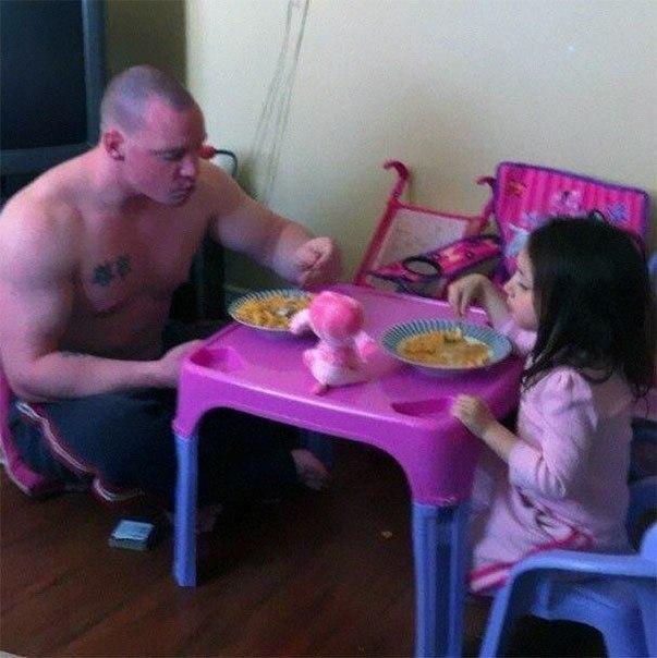 Усатый отец на силует дочь 17 фотография
