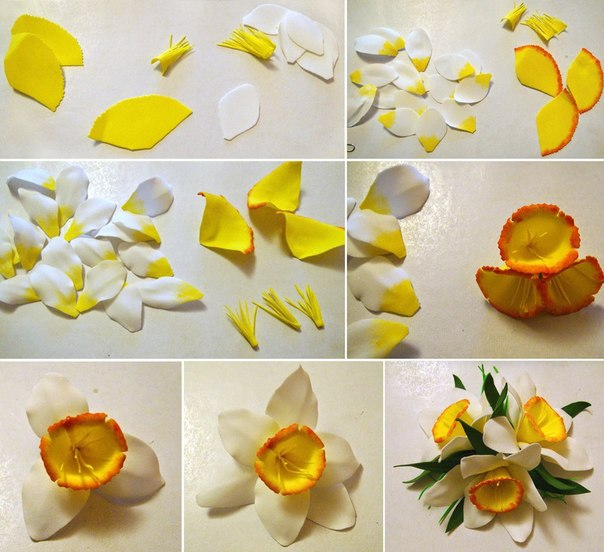 Цветы из фоамирана мк для начинающих с