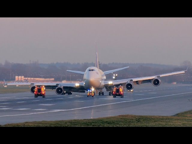 Virgin 747 400 Gear Failure Emergency Landing VS43