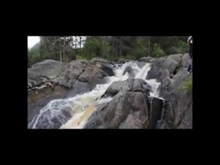 Водопад Ахвенкоски 2015 и кадры из к/ф