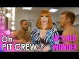 RuPauls Drag Race Oh Pit Crew with Detox - Miles & Bryce Wrestle Each Other