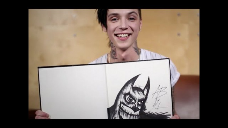Arts Chats: Andy Biersack of Black Veil Brides draws and talks fan expectations and rock stars