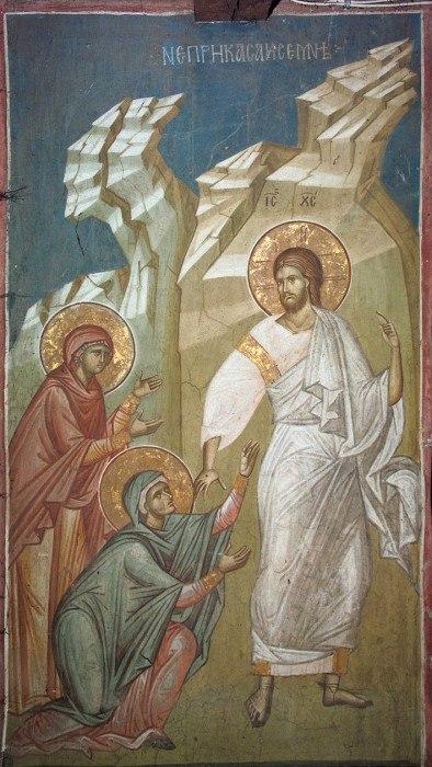 Явление Христа Женам-мироносицам. Монастырь Высокие Дечаны (Сербия)