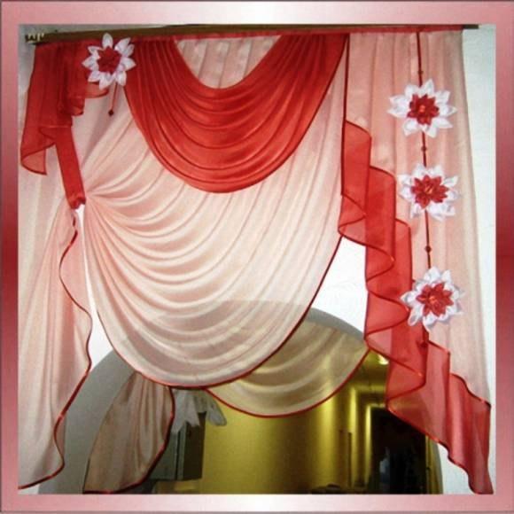 Цветы из ткани для штор своими руками мастер класс