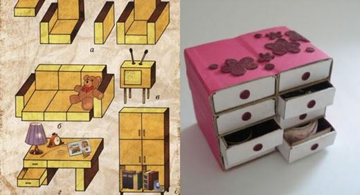 Поделка из спичечных коробков своими