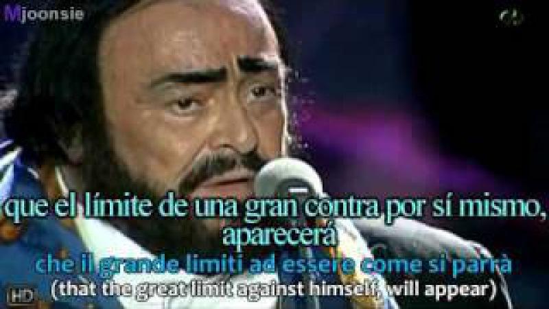 Luciano Pavarotti James Brown It's A Man's World subtitulos en español