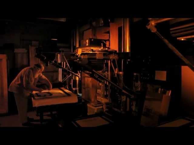 Clyde Butcher in the darkroom