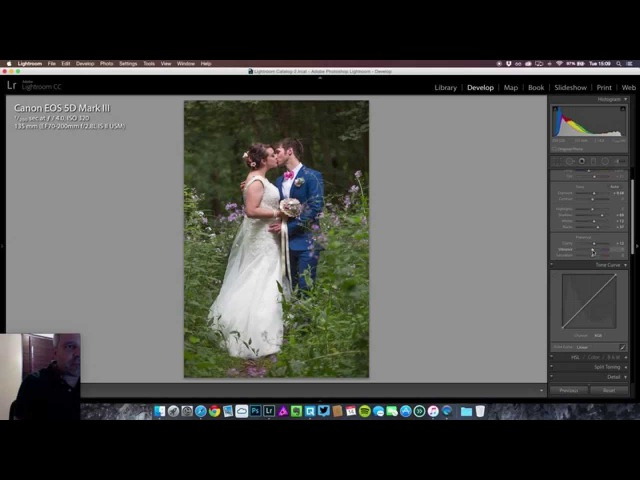 How to get that muted look Editing a Wedding Photo in Lightroom 6 CC yt