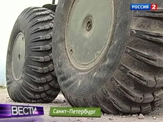 На улицах Петербурга появился Чебуратор. Russian rover Cheburator