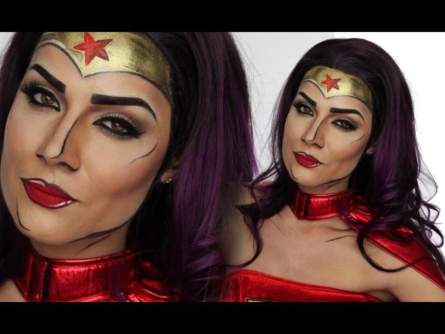 Comic Wonder Woman MakeUp Tutorial For Halloween | SuperHero | Shonagh Scott | ShowMe MakeUp