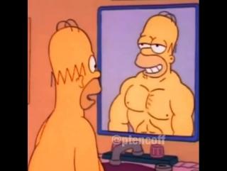 Гомер Симпсон перед зеркалом :))