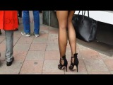 black Stockings and high heels