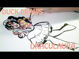 DUCK DRAWS - Draculaura from Monster High