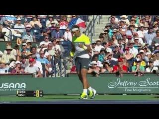 Rafael Nadal Hot Shot Indian Wells 2015 v. Raonic