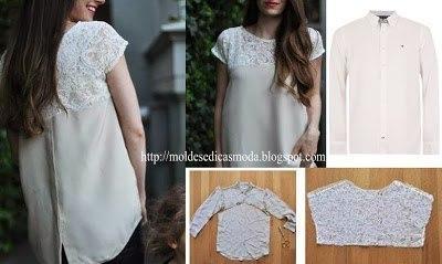 Платье сделано из мужской рубашки