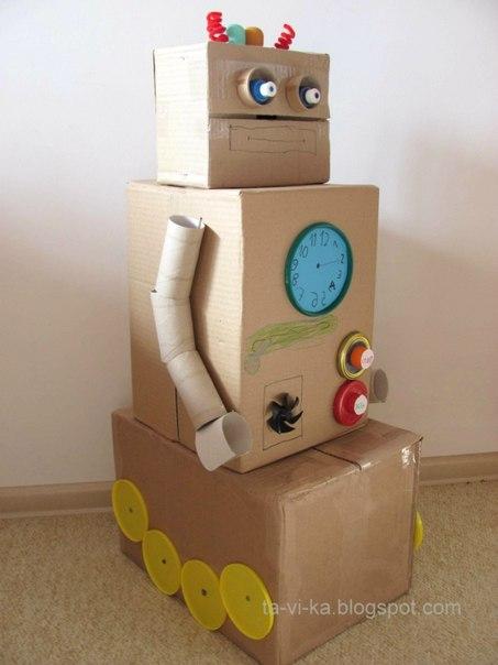 Робот своими руками из картона