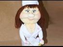 Кукла из колготок Врач / Doll doctor made of tights