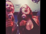 """Kristin McNamara on Instagram: """"Tuesday night Korea Town private karaoke room musical theatre frizzy haired moments with @lizgillz @cwiesenberg (note our microphones have…"""""""
