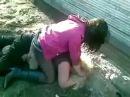Драка сельских пьяных девушек
