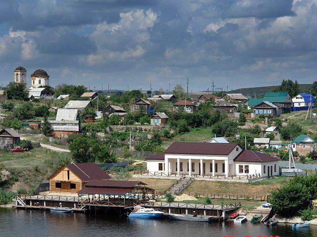 Пристань в селе Ахмат