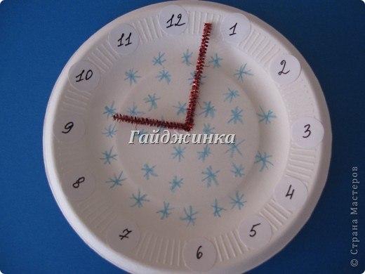 Часы из одноразовых тарелок