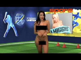 Телеведущая из Венесуэлы разделась догола в прямом эфире (видео)
